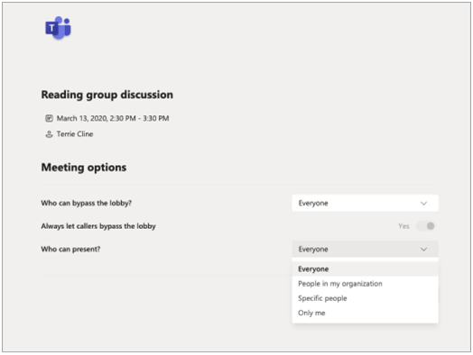 Microsoft Teams meetings with LMS integration